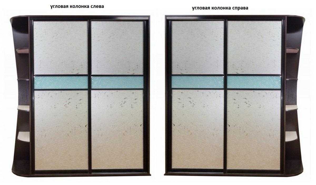 Шкаф-купе Лацио-5 угловая колонка справа или слева