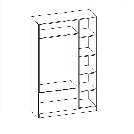Шкаф распашной Мальта-4