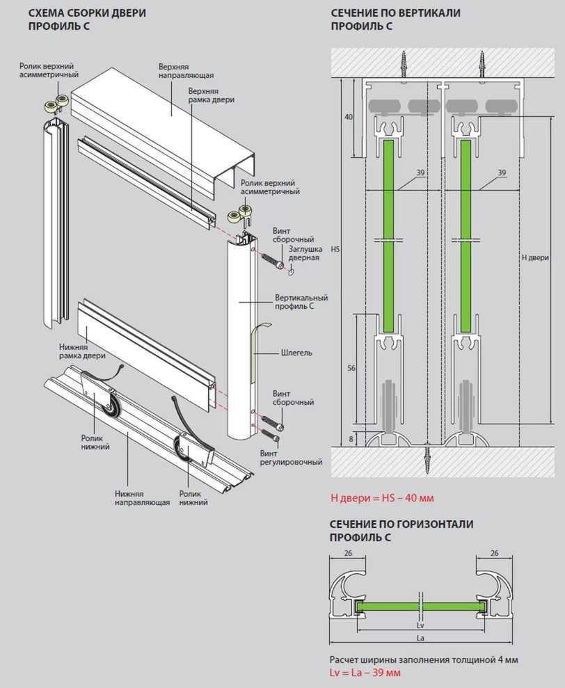 Система Версаль для шкафа-купе
