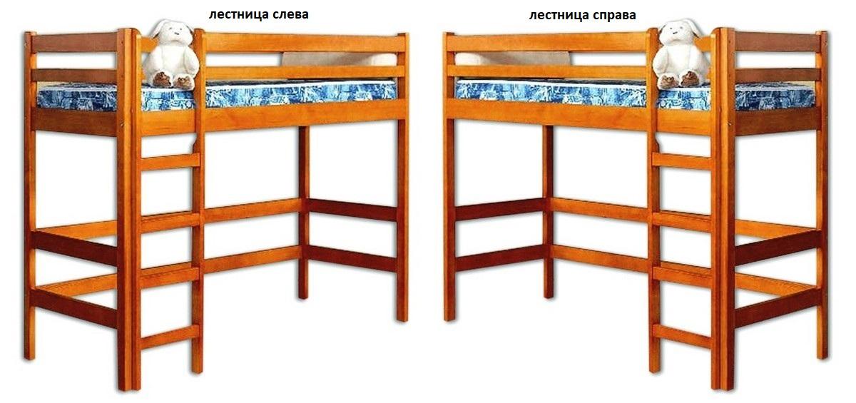 Кровать Маяк (чердак) лестница слева или справа