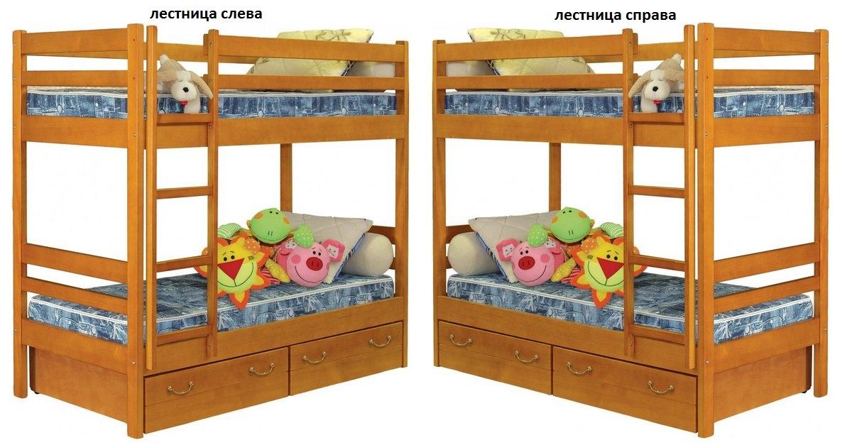Кровать №1 (2-х ярусная) лестница слева или справа