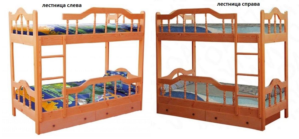 Кровать Диана-3 (2-х ярусная) лестница слева или справа