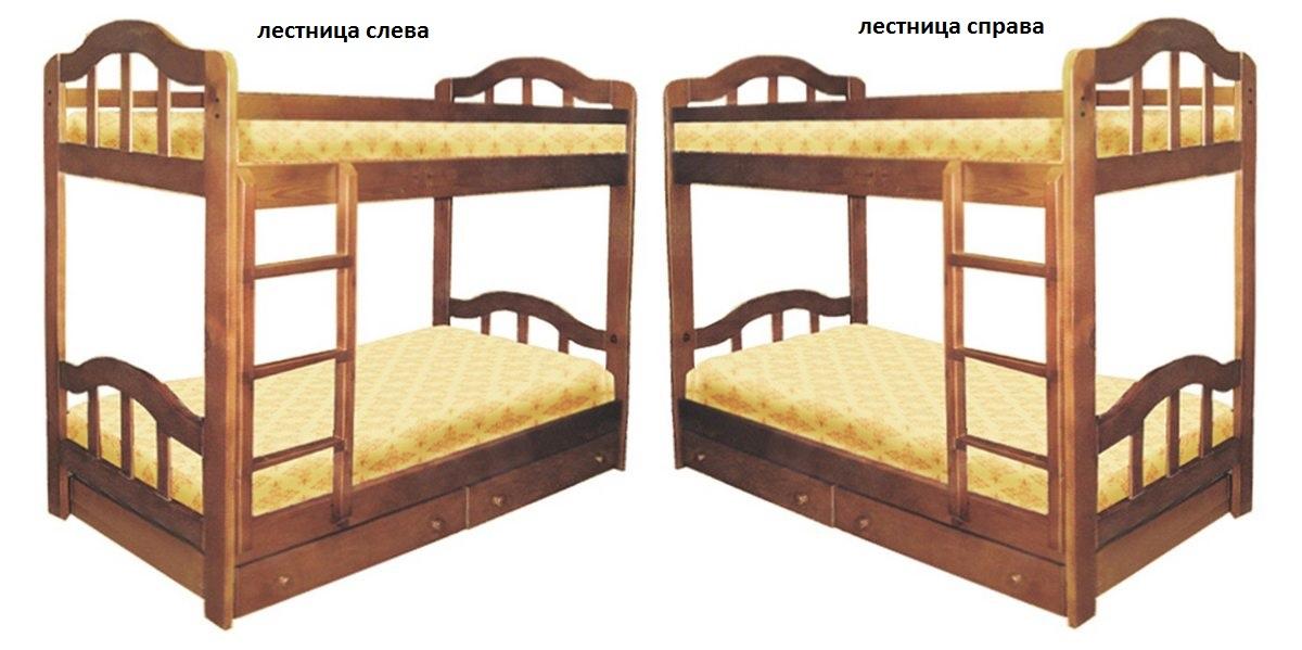 Кровать Диана 2 (2-х ярусная) лестница слева или справа