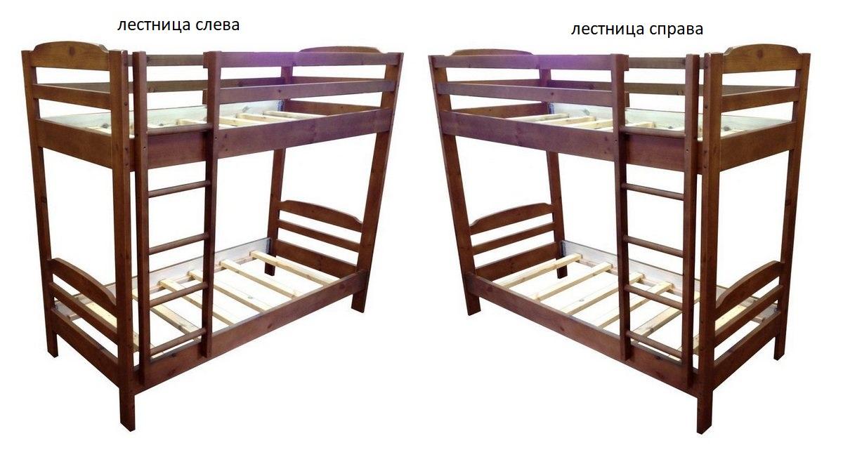 Кровать Тандем (2-х ярусная) лестница слева или справа
