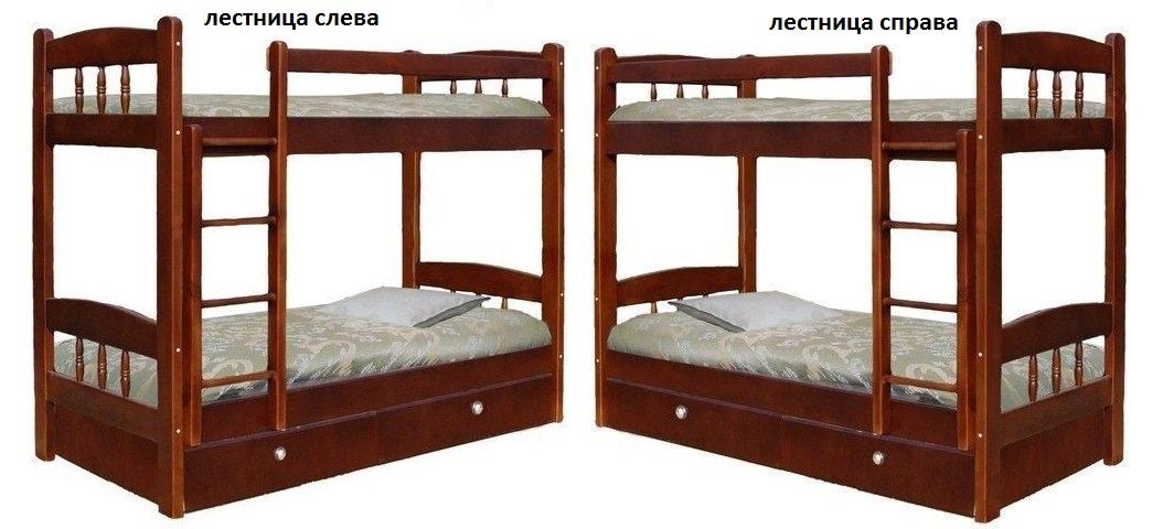 Кровать Скаут-1 (2-х ярусная) лестница справа или слева