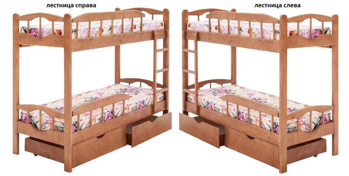 Кровать Ника (2-х ярусная) левая или правая