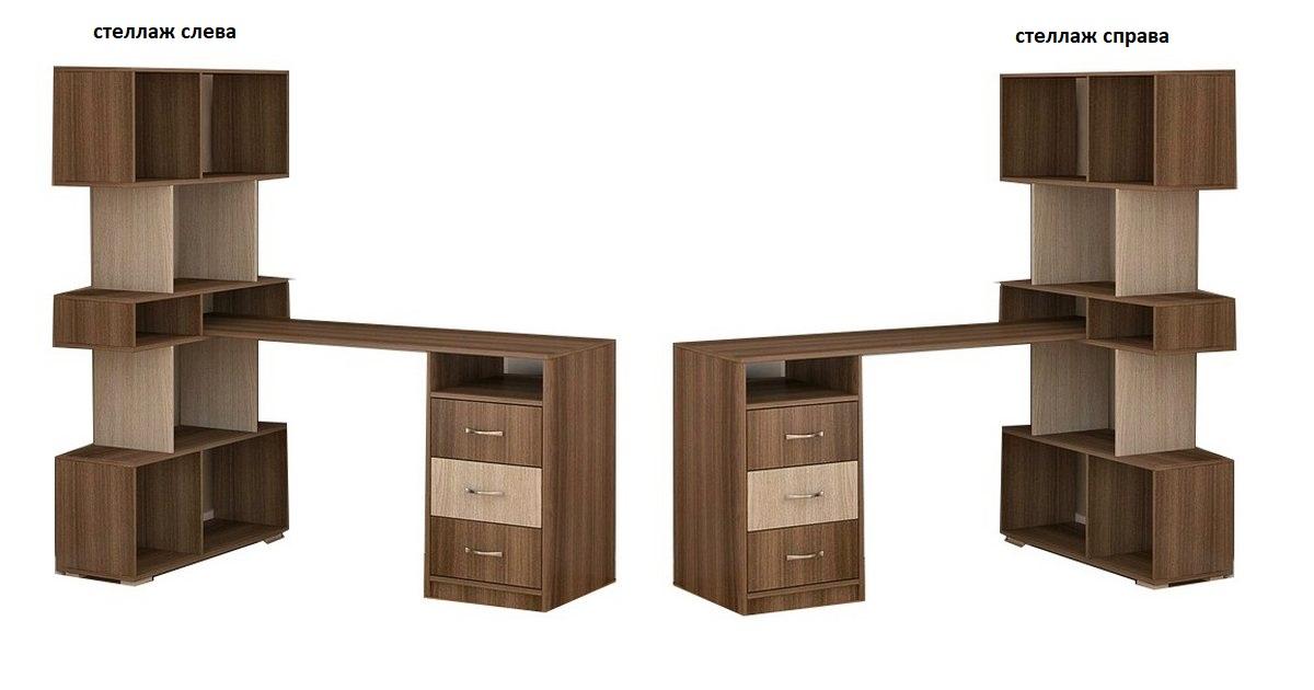 Компьютерный стол Мебелинк 100-14 стеллаж слева или справа