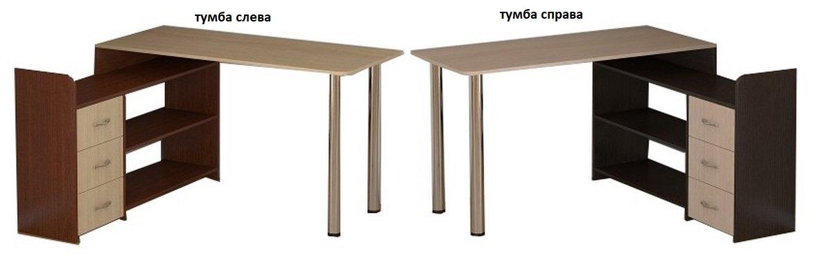 Компьютерный стол Мебелинк 100-20 тумба слева или справа