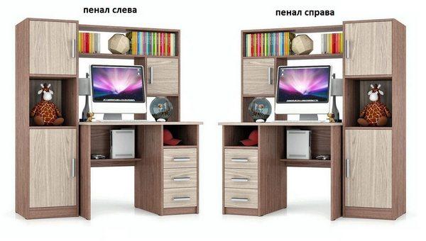 Компьютерный стол СК-9 пенал слева или справа