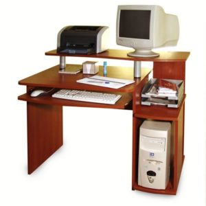 Белый компьютерный стол КС 1272