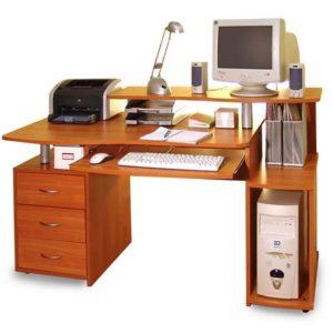 Белый компьютерный стол КС 1476