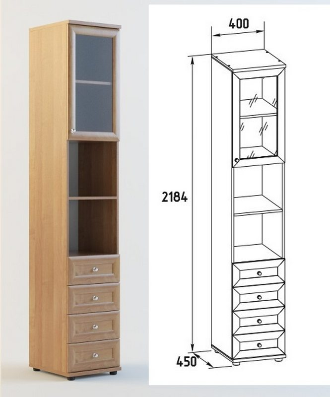 Шкаф-пенал ШО-03