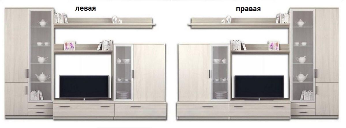 Гостиная Модерн 1 с ящиками левая или правая