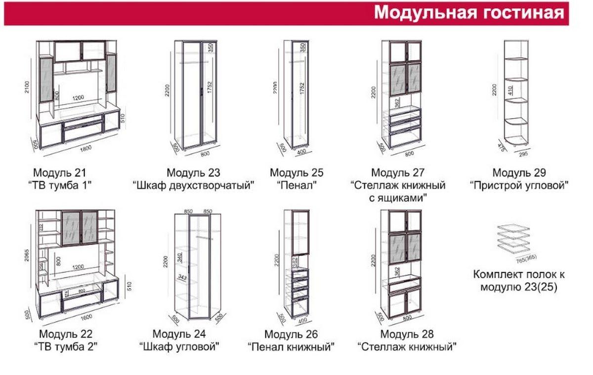 Модули от стенки Амелия