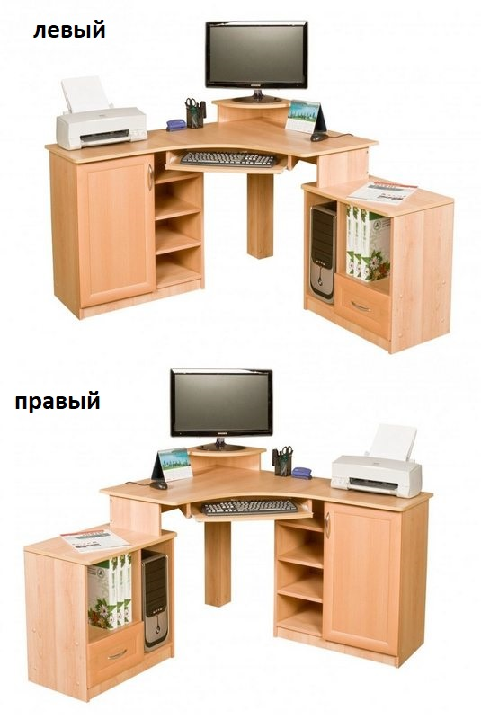 Компьютерный стол Глория левый или правый