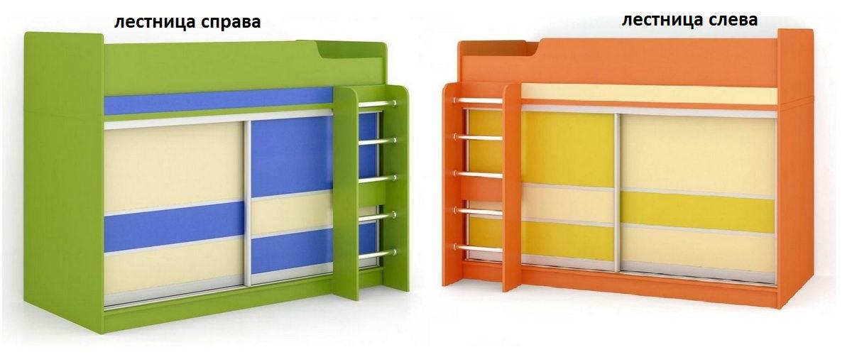 Детская кровать-купе №1 лестница слева или справа