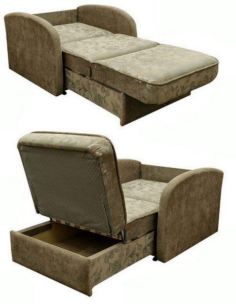 Кресло-кровать Глория в разборе