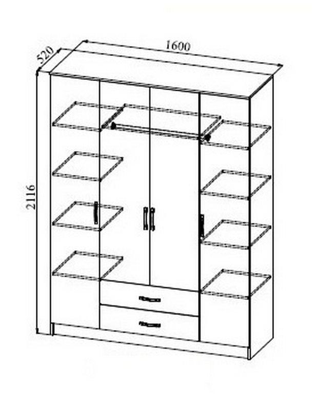 Размер и схема шкафа