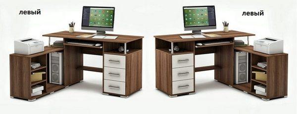 Компьютерный стол Амбер-12 левый или правый