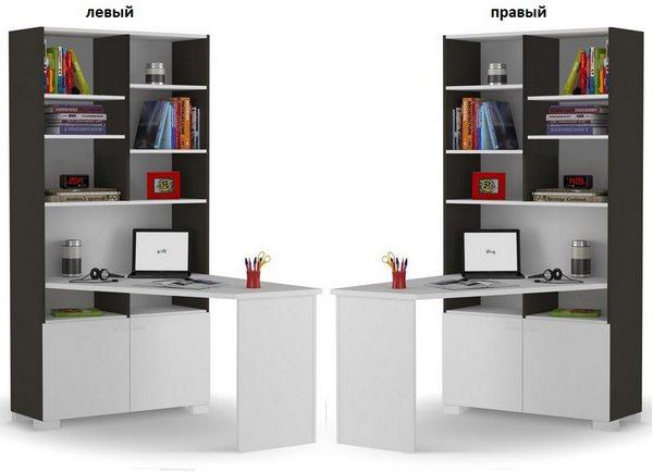 Письменный стол-стеллаж левый или правый