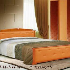Двуспальная кровать Авизия (кожа)