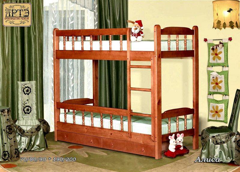 Кровать Алиса (2-х ярусная)