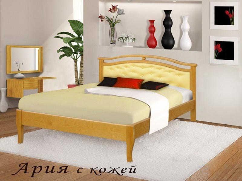 Кровать Ария (кожа)
