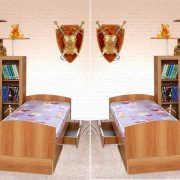 Детская Уголок школьника 2М с кроватью