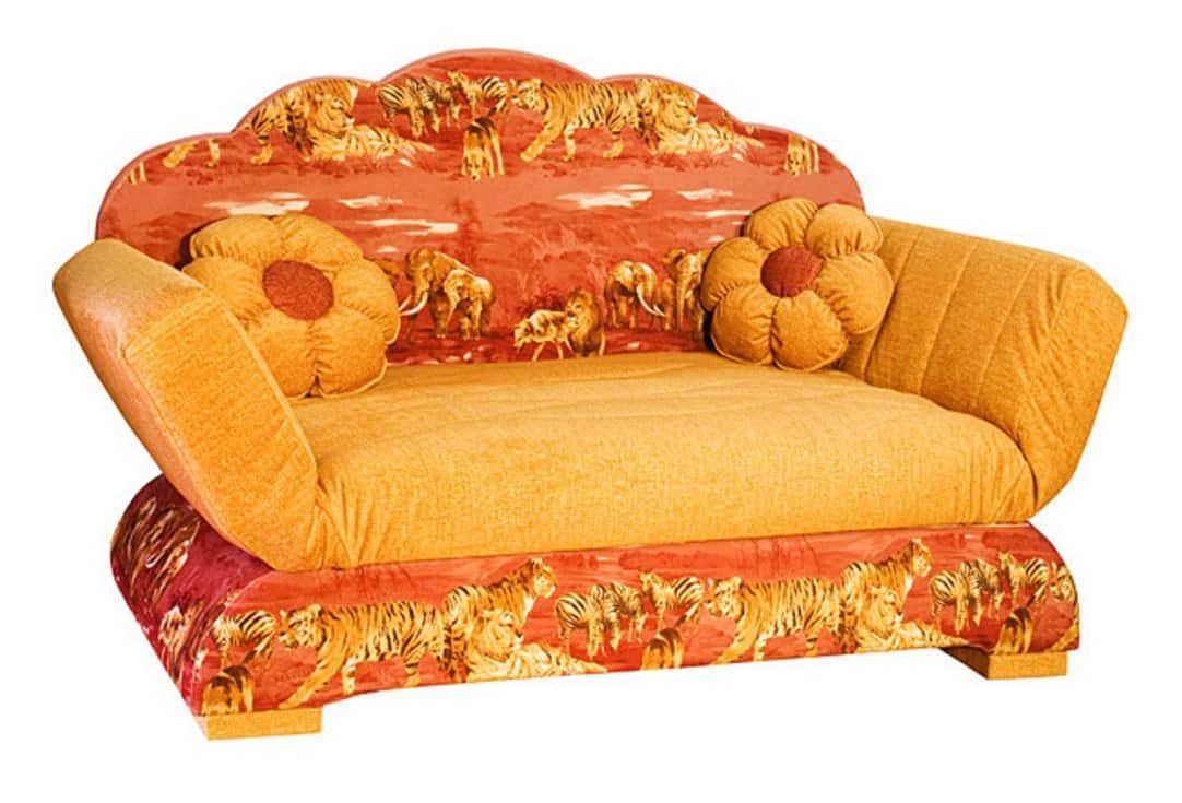 Детский диван Цветочная поляна