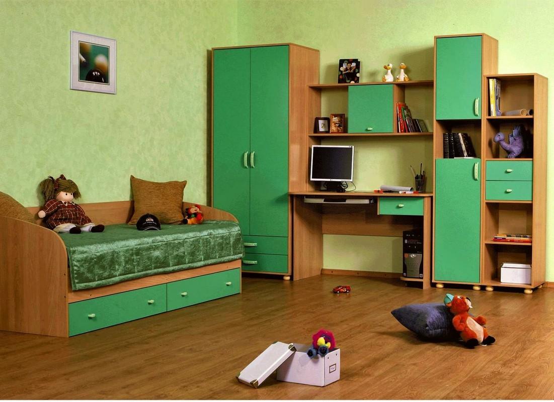 Детская стенка Лагуна+кровать