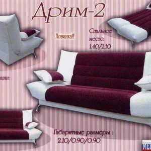 Классический диван книжка Дрим-2