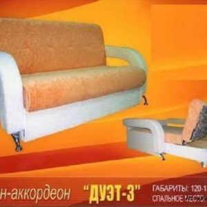 Спальный диван аккордеон Дуэт-3