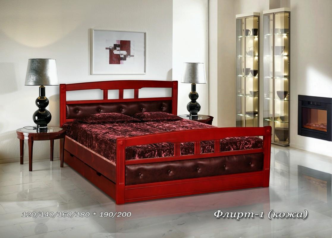 Кровать Флирт-1 и 2 (кожа)