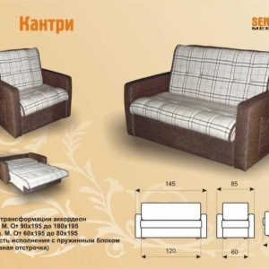Недорогой диван аккордеон Кантри