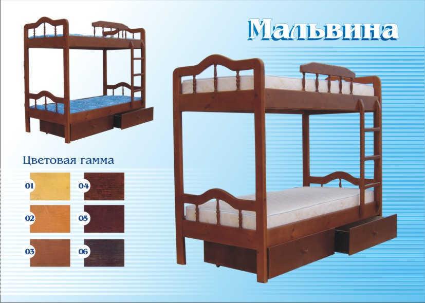 Кровать Мальвина (2-х ярусная)