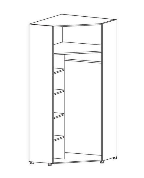 внутреннее наполнение углового шкафа комбинированный