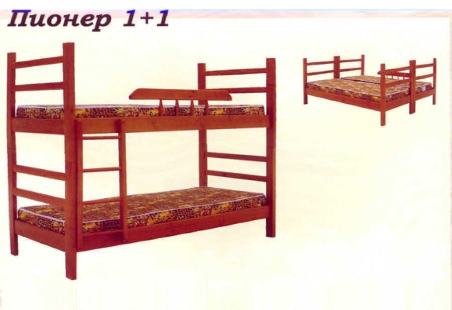 Кровать Пионер 1+1 (разборная)