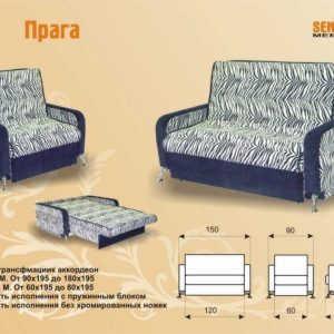 Раскладной диван аккордеон Прага