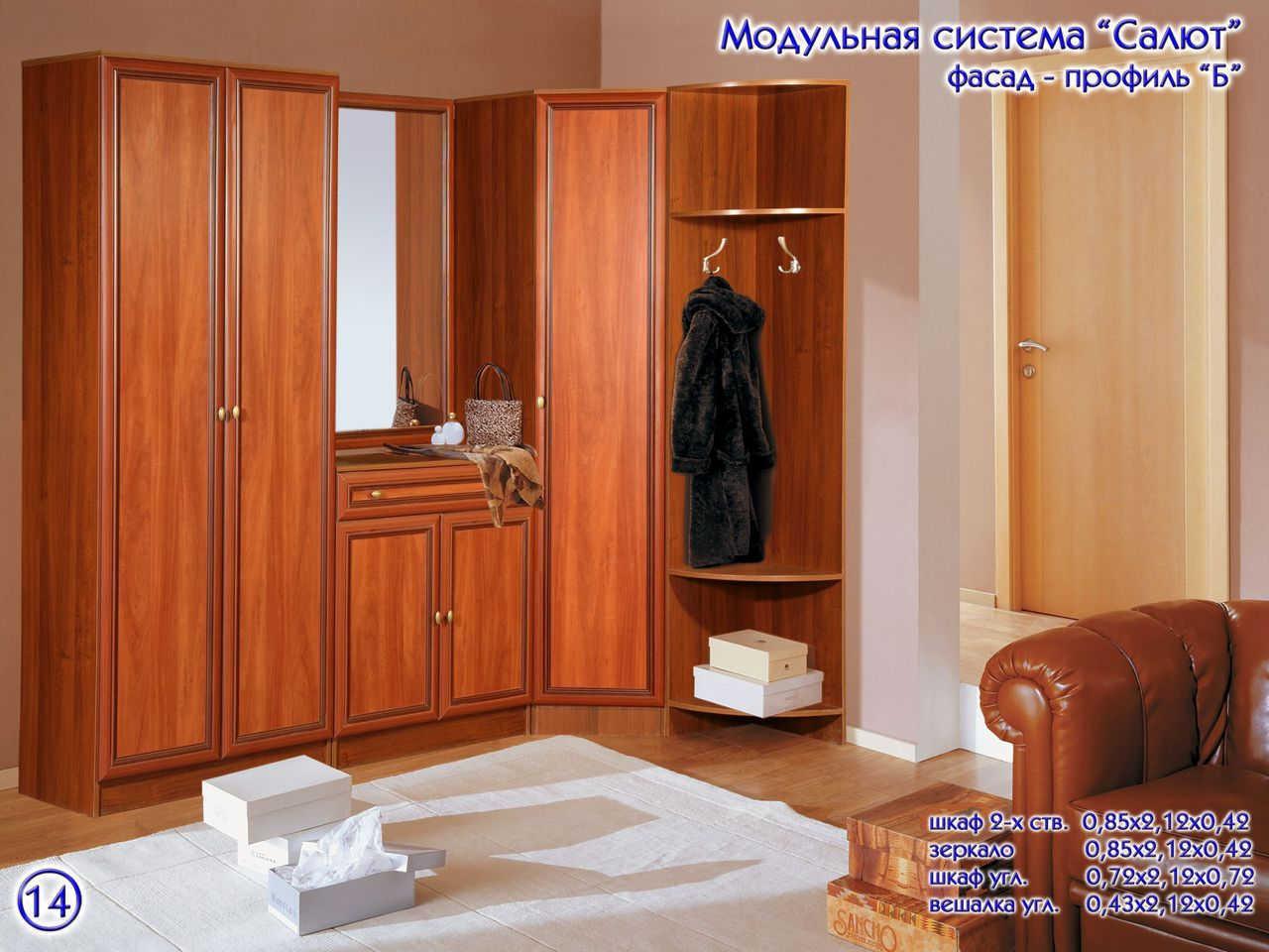 Прихожая салют 12 - мебель недорого в москве.