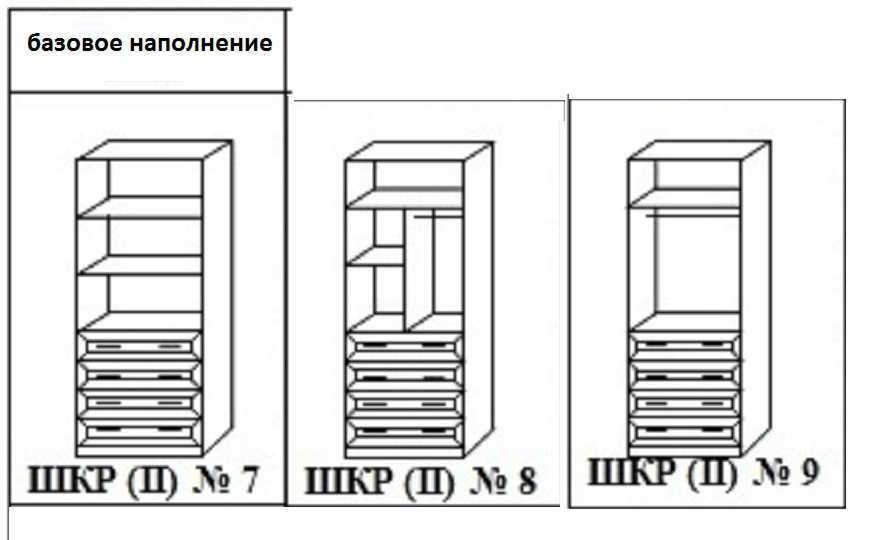 Шкаф распашной Стелла-14 наполнение