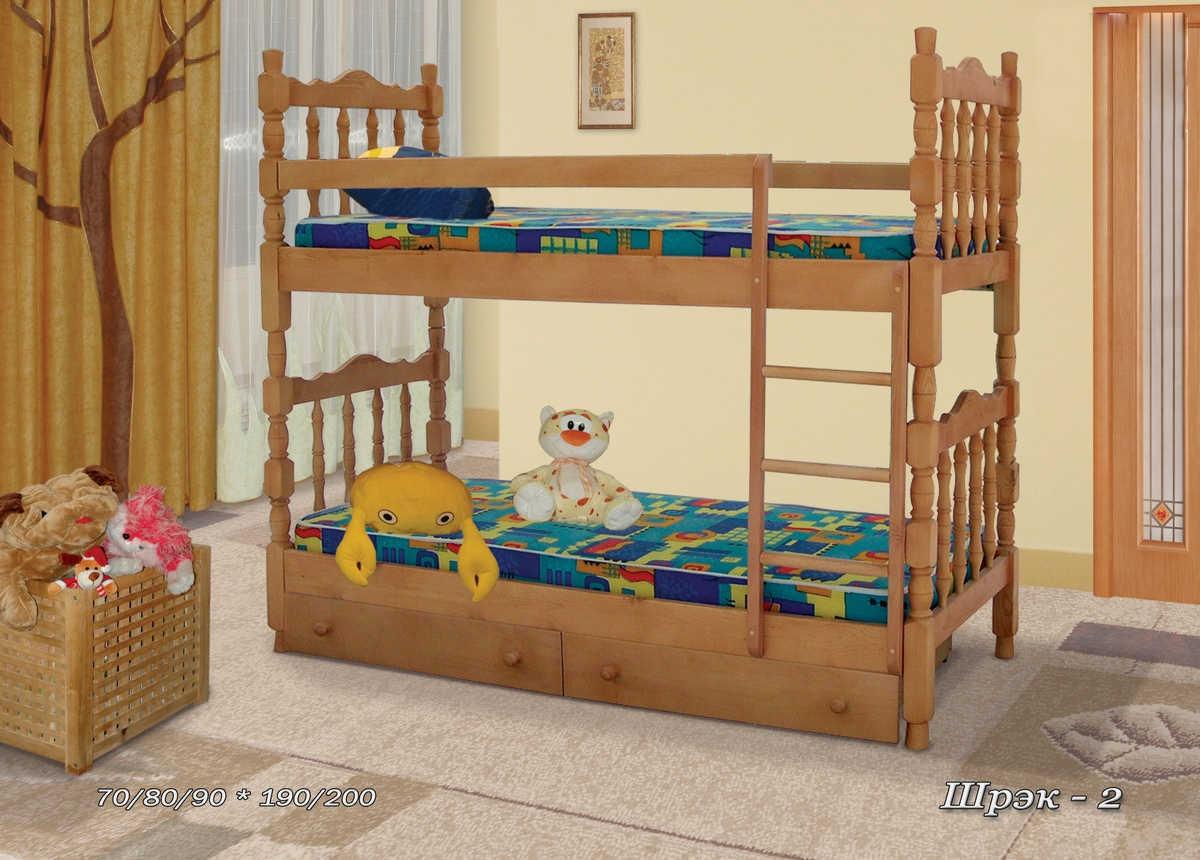Кровать Шрек-2 (2-х ярусная)
