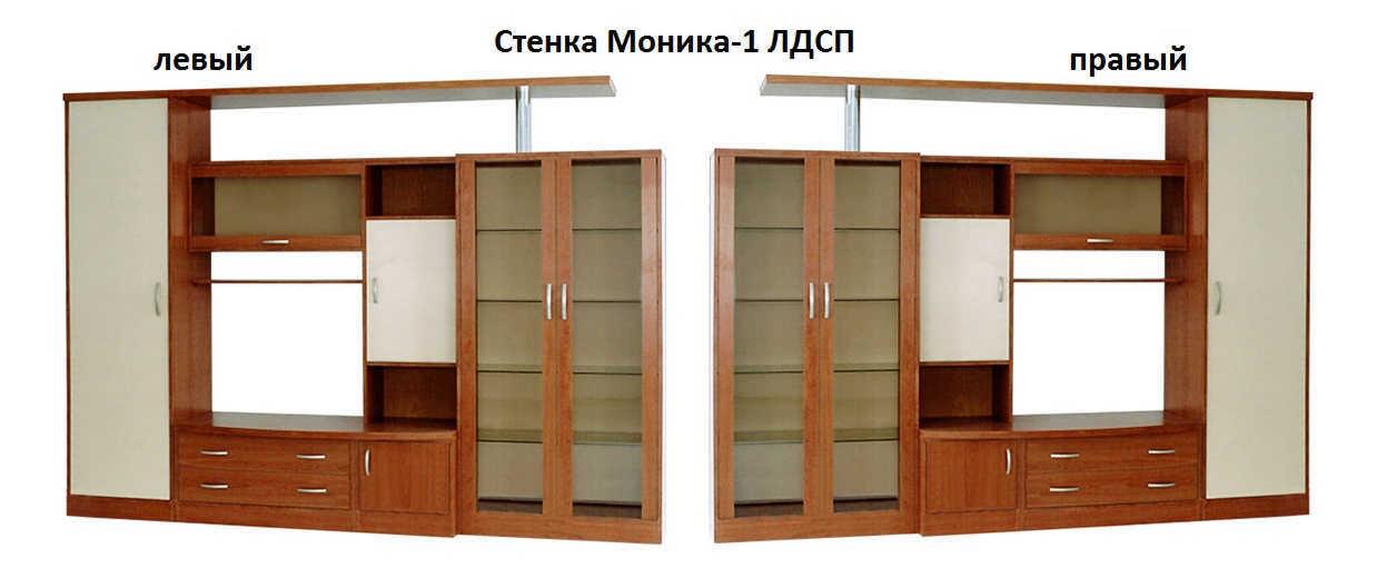 Стенка Моника-1 ЛДСП левая или правая
