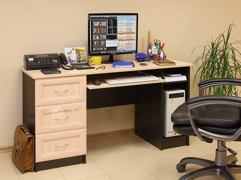 Компьютерный стол ПКС-1В рамка МДФ