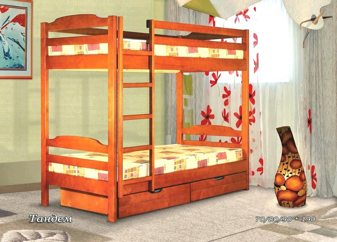 Кровать Тандем (2-х ярусная)