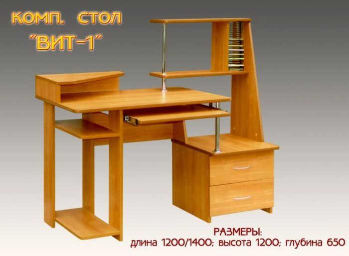 Компьютерный стол Вит-1